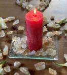 Andělská čakrová svíce - 1. čakra