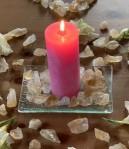Andělská čakrová svíce - 4. čakra